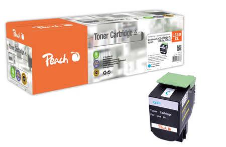 Peach  Tonermodul cyan kompatibel zu Hersteller-ID: C540H2CG, C54x, X54x