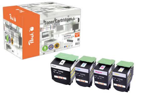 Peach  Spar Pack Tonermodule kompatibel zu Hersteller-ID: C540H2, C54x, X54x