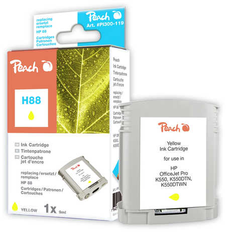 Peach  Tintenpatrone gelb kompatibel zu Hersteller-ID: No. 88, C9388AE