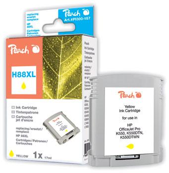 Peach  Tintenpatrone gelb kompatibel zu Hersteller-ID: No. 88XL, C9393AE