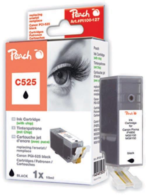 Peach  XL-Tintenpatrone schwarz kompatibel zu Hersteller-ID: PGI-525