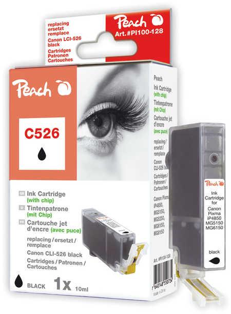 Peach  XL-Tintenpatrone foto schwarz kompatibel zu Hersteller-ID: CLI-526, CLI-526 bk