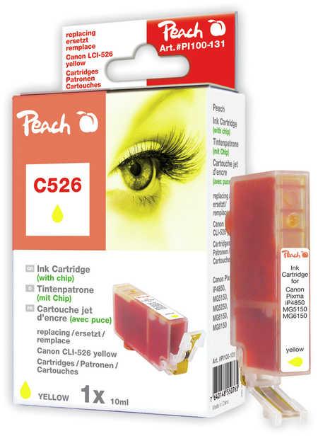 Peach  XL-Tintenpatrone gelb kompatibel zu Hersteller-ID: CLI-526, CLI-526 y