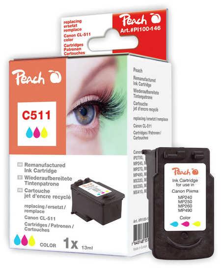 Peach  Druckkopf color kompatibel zu Hersteller-ID: CL-511