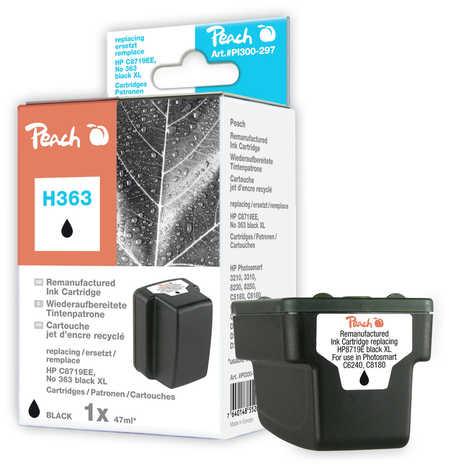 Peach  Tintenpatrone schwarz HC kompatibel zu Hersteller-ID: No. 363, C8719EE