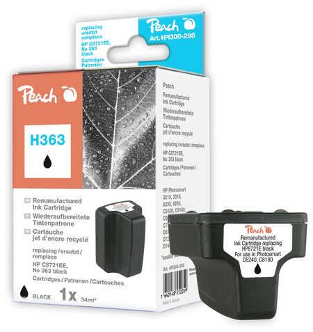 Peach  Tintenpatrone schwarz kompatibel zu Hersteller-ID: No. 363, C8721EE