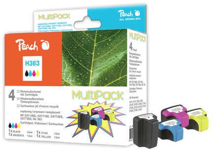 Peach  Spar Pack Tintenpatronen kompatibel zu Hersteller-ID: No. 363