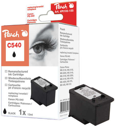 Peach  Druckkopf schwarz kompatibel zu Hersteller-ID: PG-540