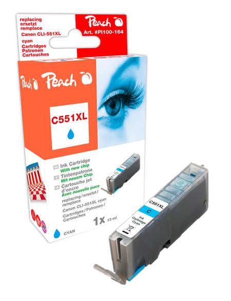 Peach  XL-Tintenpatrone cyan kompatibel zu Kompatibel mit CLI-551, CLI-551C XL