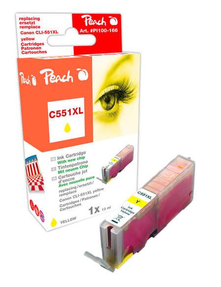 Peach  XL-Tintenpatrone gelb kompatibel zu Kompatibel mit CLI-551, CLI-551Y XL