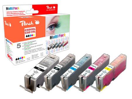 (Canon) Peach Spar Pack Tintenpatronen XL-Ergiebigkeit, kompatibel zu ID:
