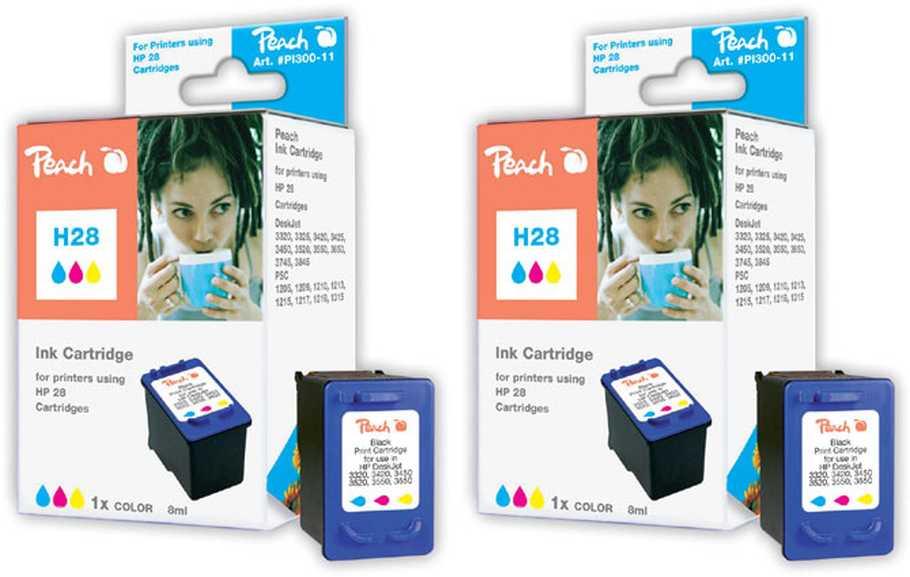 Peach  Doppelpack Druckköpfe color kompatibel zu Hersteller-ID: No. 28, C8728AE